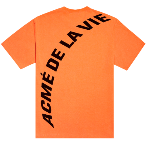 ADLV NEON BIG LOGO SHORT SLEEVE ORANGE