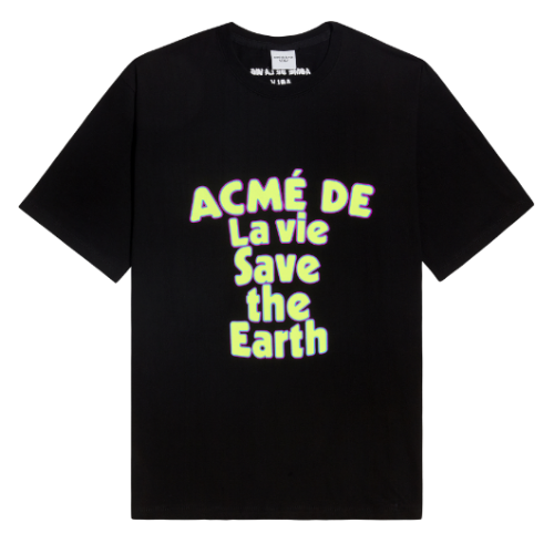 ADLV SAVE THE EARTH SHORT SLEEVE BLACK