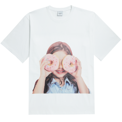 ADLV BABY FACE SHORT SLEEVE WHITE DONUTS 3