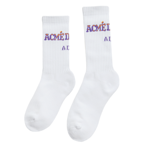 ADLV BACK LOGO SOCKS PURPLE