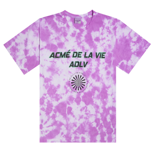 ADLV TIE-DYEING SHORT SLEEVE NEON PURPLE