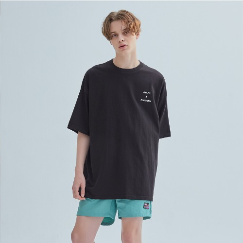 WASHING CRACK LOGO TEE BLACK