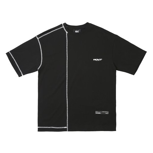 COVERSTITCH T-SHIRTS BLACK
