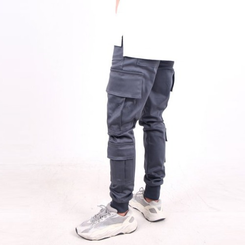 GRAY 4 POCKET CARGO JOGGER PANTS