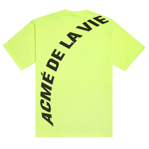 ADLV NEON BIG LOGO SHORT SLEEVE YELLOW