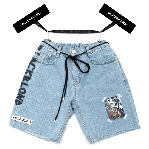 BBD INNOCENT DENIM SHOTRS LIGHT BLUE