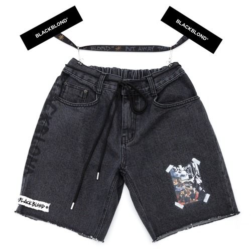 BBD INNOCENT DENIM SHORTS BLACK