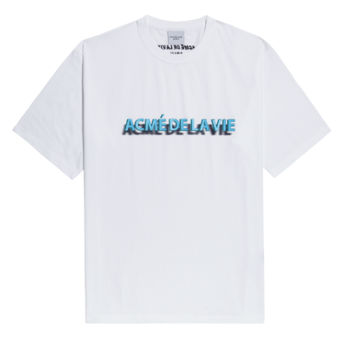 ADLV 3D LOGO SHORT SLEEVE WHITE