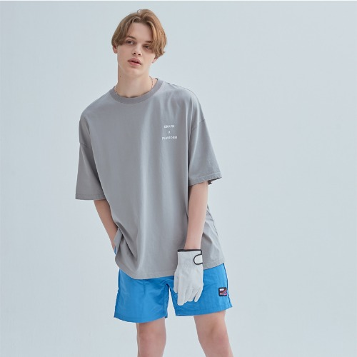 LOGO PATCH PANTS BLUE