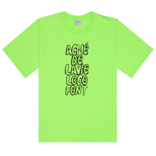 ADLV SPRAY LOGO SHORT SLEEVE NEON GREEN
