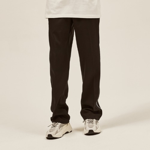 NAVY SIDE LINE WIDE SLACKS