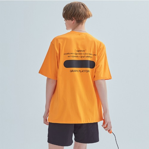 SIGNATURE LOGO TEE ORANGE