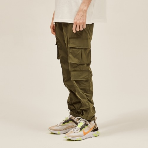 NYLON METAL CARGO STRING PANTS