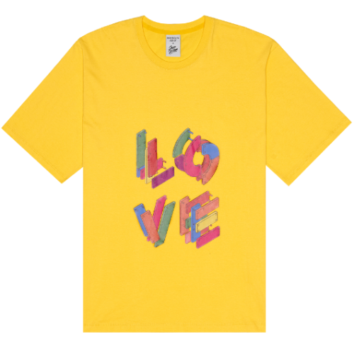 ADLV X Steven Willson LOVE SHORT SLEEVE YELLOW