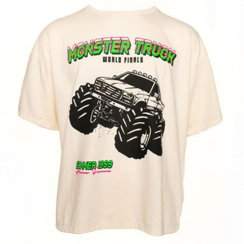 [SEASON OFF 극소량 재고 & 재입고 불가] MONSTER TRUCK TEE WHITE