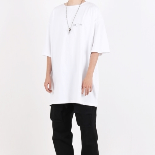 SIGNATURE SUPER OVERFIT BOAT NECK T-SHIRT WHITE
