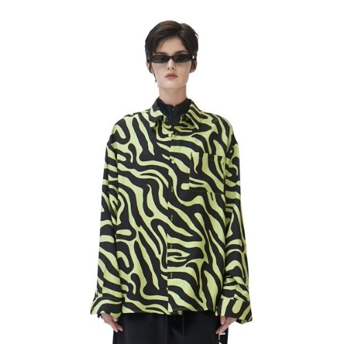 GREEN ZEBRA SILK SHIRT