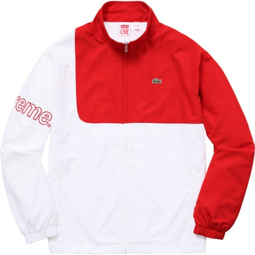 17SS LACOSTE TRACK JACKET RED