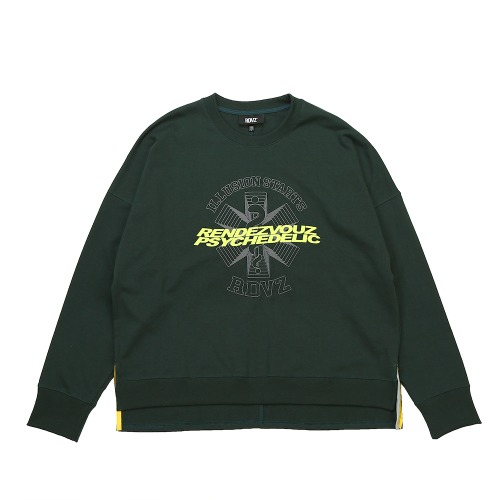 GRAPHIC LOGO CREWNECK LONG SLEEVE GREEN