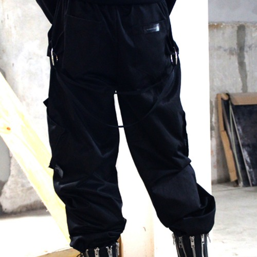 ORING CARGO PANTS BLACK