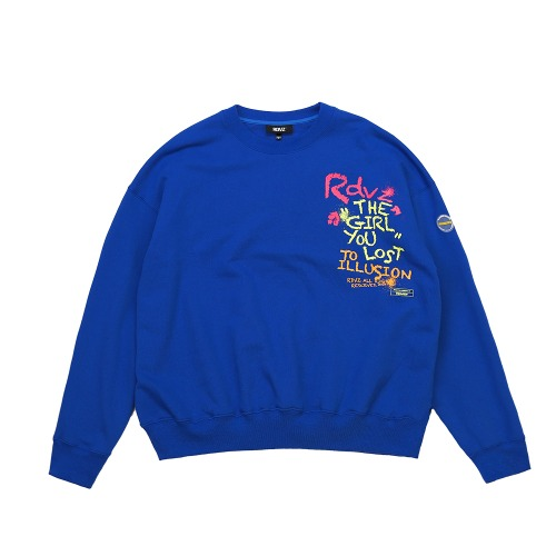 CRAYON SWEAT TOP BLUE