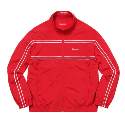 17FW PIPING TRACK JACKET RED