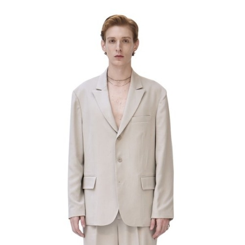 UNISEX LAYERED OVERSIZED JACKET IVORY