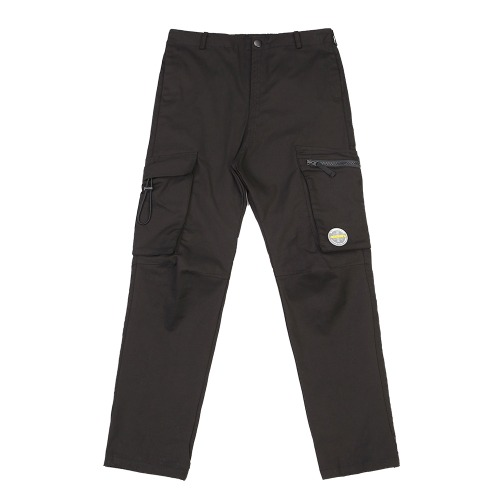 MULTI POCKET CARGO PANTS BLACK