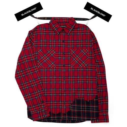 BBD LAYERED CHECK SHIRT RED