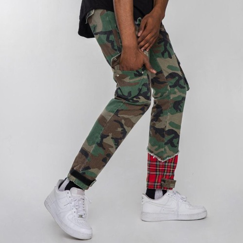 PLAID PANTS CAMO