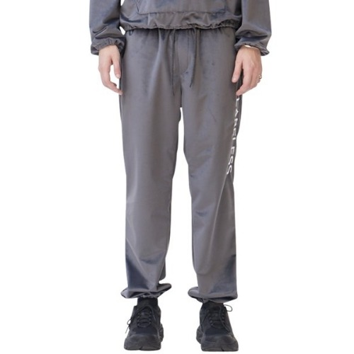SIDE LOGO SILKY LOUNGE TROUSERS GREY