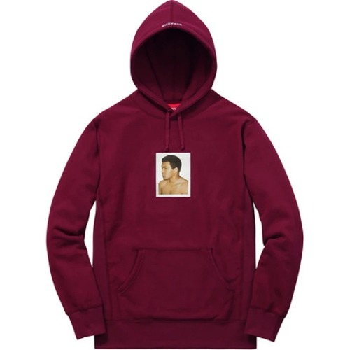 16SS ALIWARHOL HOODED SWEATSHIRT BURGUNDY