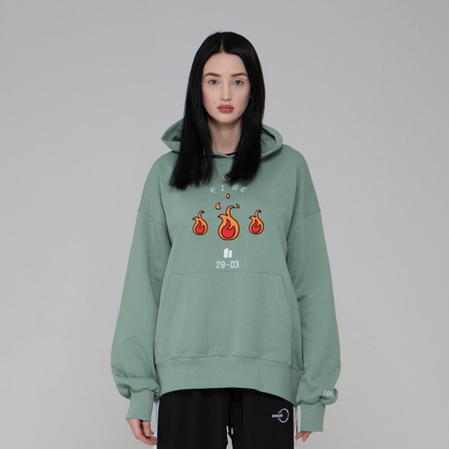 EMBO FIRE HOODIES GREEN
