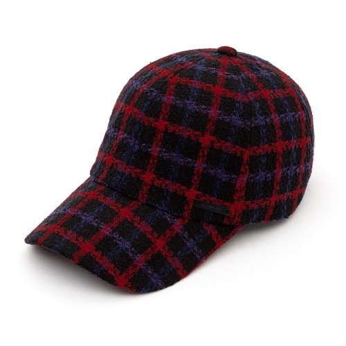 BBD PLAID TWEED CAP BLACK