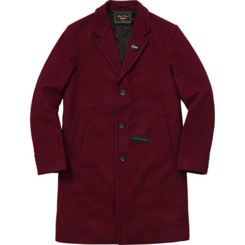 16FW UNDERCOVER WOOL COAT BURGUNDY