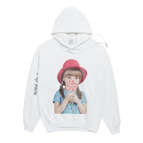 ADLV BABY FACE HOODIE WHITE RED HAT
