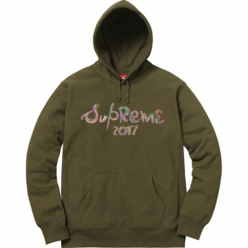 17FW BRUSH LOGO HOODED SWEATSHIRT