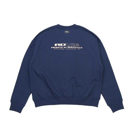 CONTRAST LOGO SWEAT TOP BLUEGREY