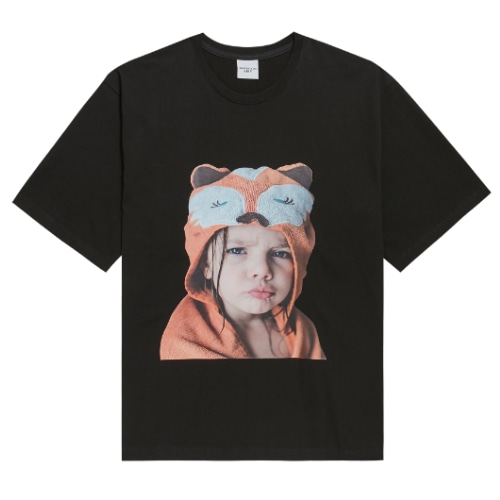 ADLV BABY FACE SHORT SLEEVE BLACK RACCOON