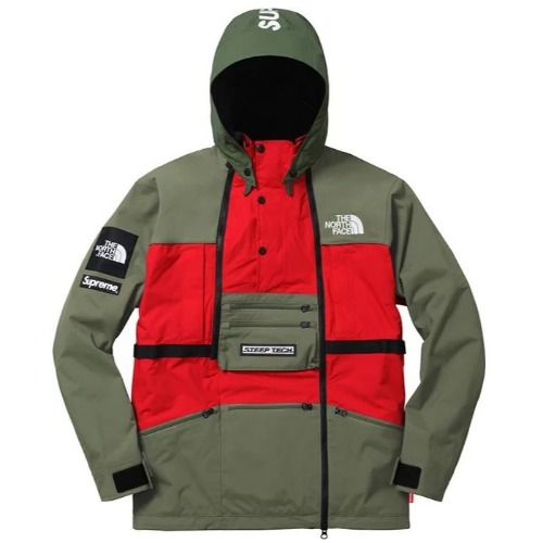 16SS TNF STEEP TECH JACKET OLIVE
