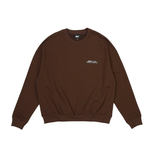 CONTRAST LOGO SWEAT TOP BROWN