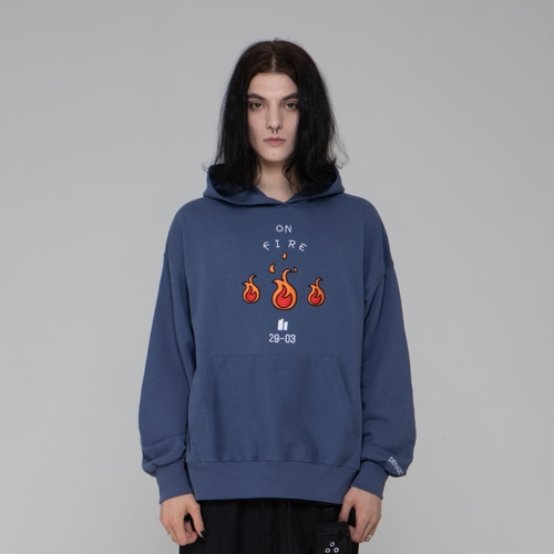 EMBO FIRE HOODIES BLUE