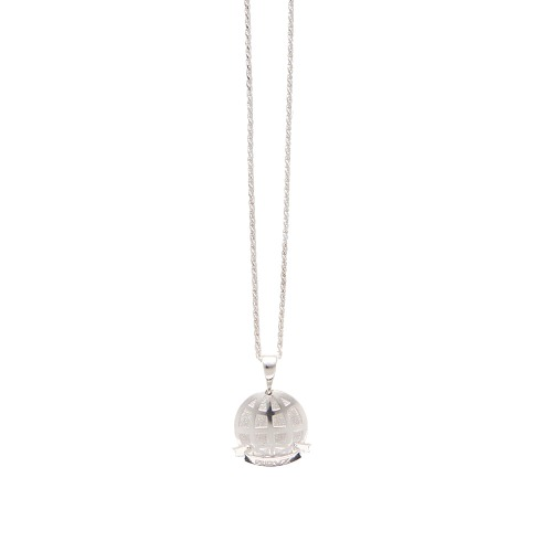 GLOBAL PLATE NECKLACE SILVER