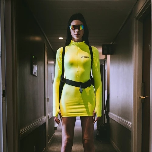 KNIGHT DRESS NEON YELLOW