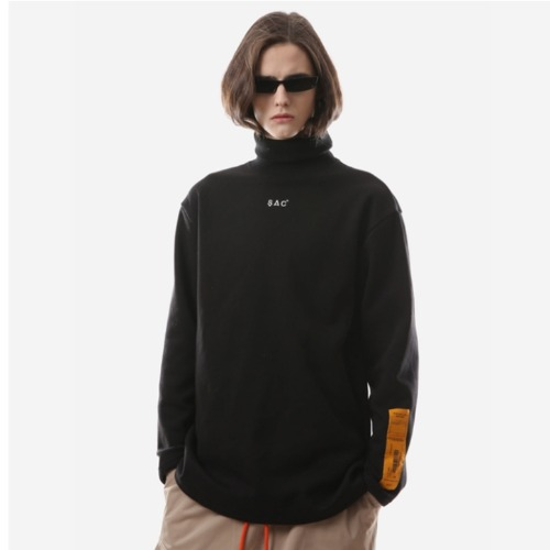 MINI LOGO TURTLE NECK BLACK
