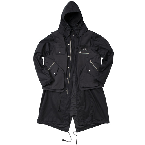 TWO PIECES FIELD JACKET BLACK