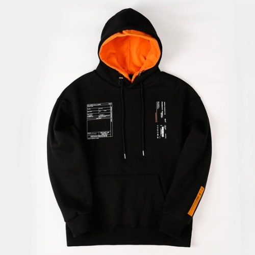 LAYER HOOD PULLOVER BLACK