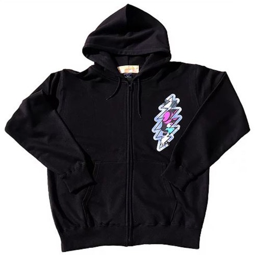 THUNDER FOIL ZIP UP HOOD BLACK