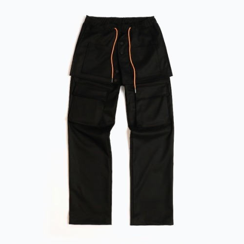 APRON ENGINEERED SLACKS BLACK