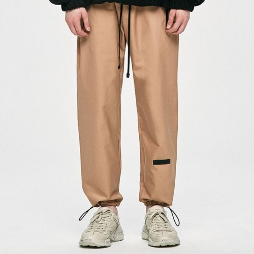 COTTON TRACK PANTS PANTS - BEIGE